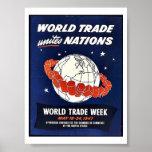 El comercio mundial une naciones impresiones