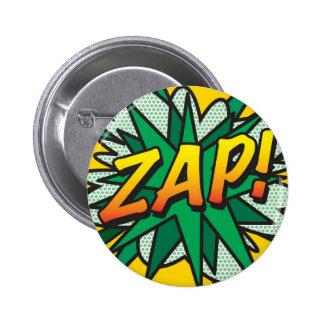 ¡El cómic ZAP! Pin Redondo De 2 Pulgadas
