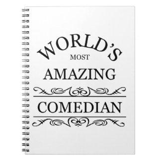 El cómico más asombroso del mundo spiral notebook