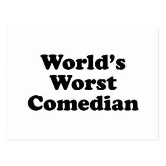 El cómico peor del mundo tarjeta postal
