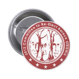 El comité 2012 al re elige a Barack Obama Pin