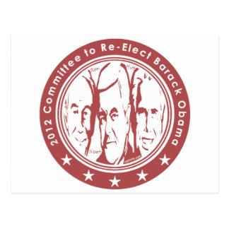 El comité 2012 al re elige a Barack Obama Postal