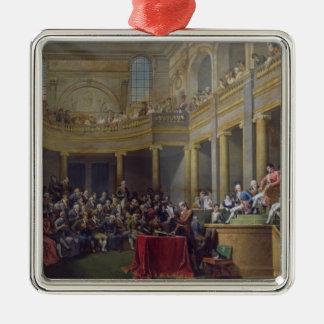 El comité de Lyon, el 26 de enero de 1802, 1808 Adorno Navideño Cuadrado De Metal