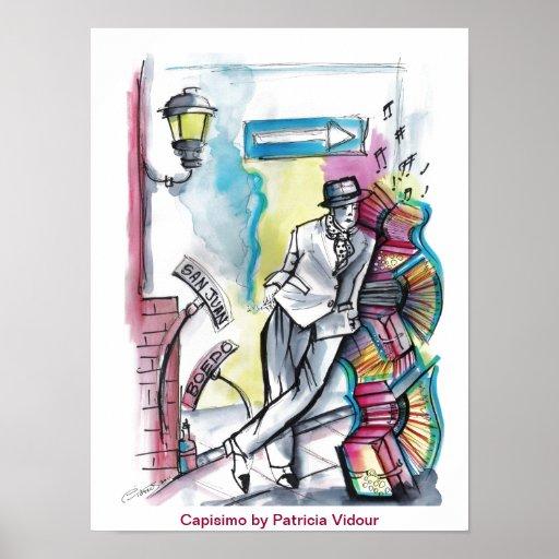 EL Compadrito del hombre del tango Posters