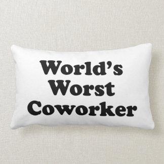 El compañero de trabajo peor del mundo almohada