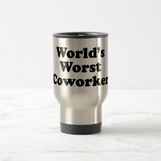 El compañero de trabajo peor del mundo taza