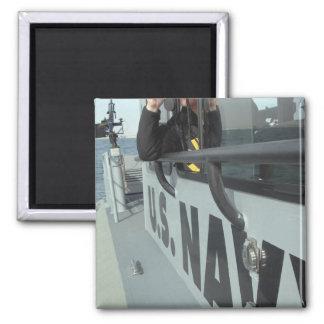 El compañero del Boatswain de la marina de guerra  Imán De Nevera