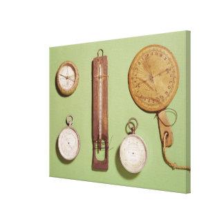 El compás de Scott, termómetro, reloj de sol, Impresión En Lienzo