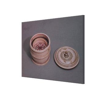 El compás del marino en un caso de marfil impresión en lienzo
