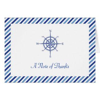 El compás náutico le agradece cardar tarjeta pequeña
