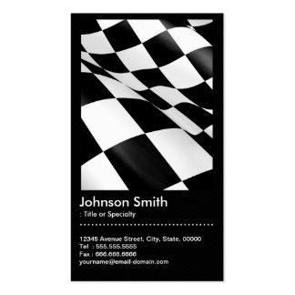 El competir con auto - código a cuadros blanco tarjetas de visita