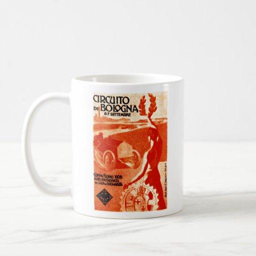 El competir con auto italiano 1908 taza de café