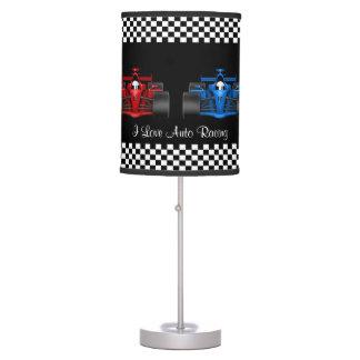 El competir con auto lámpara de mesilla de noche