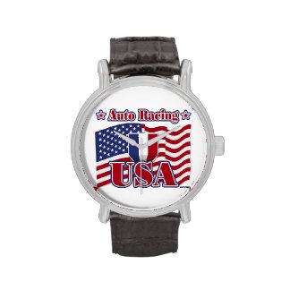 El competir con auto los E.E.U.U. Reloj De Mano