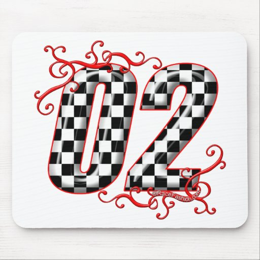 el competir con auto número 02 alfombrillas de raton