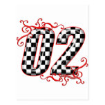 el competir con auto número 02 tarjeta postal
