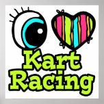 El competir con brillante de Kart del amor del cor Impresiones