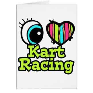El competir con brillante de Kart del amor del Tarjeta De Felicitación
