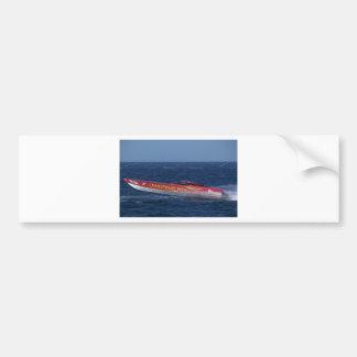 El competir con costero del Powerboat Pegatina De Parachoque