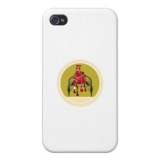 El competir con de arnés del caballo y del jinete iPhone 4 protector