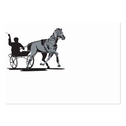 El competir con de arnés del caballo y del jinete tarjetas de visita grandes