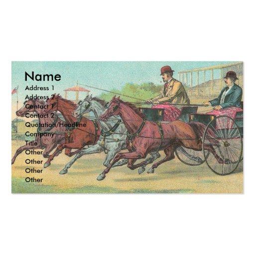 El competir con de arnés del vintage tarjetas de visita