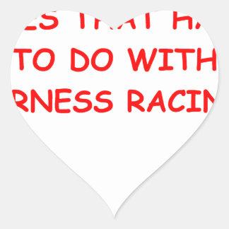 el competir con de arnés pegatina en forma de corazón