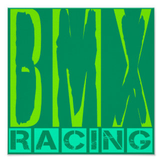 El competir con de BMX Poster