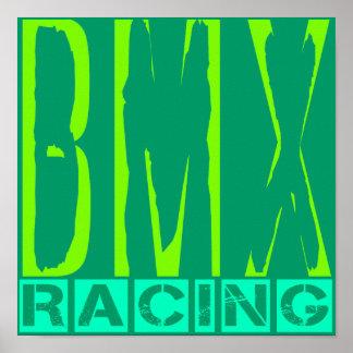 El competir con de BMX Póster