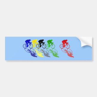 El competir con de camino de la bici del camino co etiqueta de parachoque