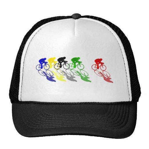 El competir con de camino de la bici del camino co gorras de camionero