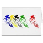 El competir con de camino de la bici del camino co felicitaciones