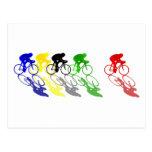 El competir con de camino de la bici del camino co tarjeta postal