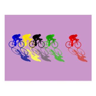 El competir con de camino de la bici del camino postal