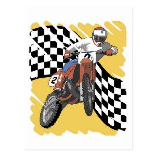 El competir con de Dirtbike Postales