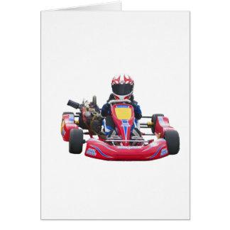 El competir con de Kart