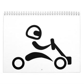 El competir con de Kart Calendarios