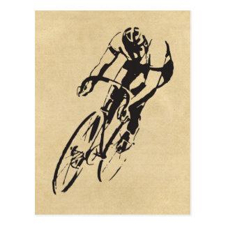 El competir con de la bici del camino postal