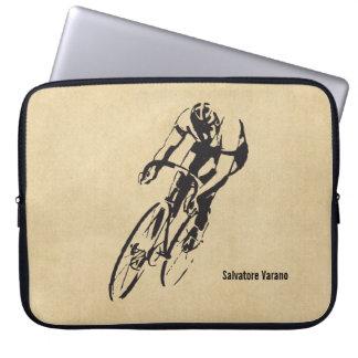 El competir con de la bici personalizado fundas portátiles