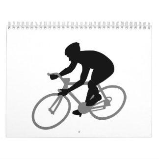 El competir con de la bicicleta calendario de pared