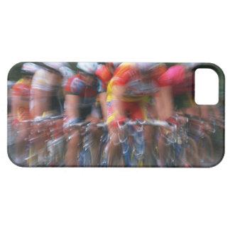 El competir con de la bicicleta del camino iPhone 5 carcasas
