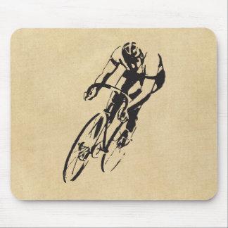 El competir con de la bicicleta alfombrilla de raton