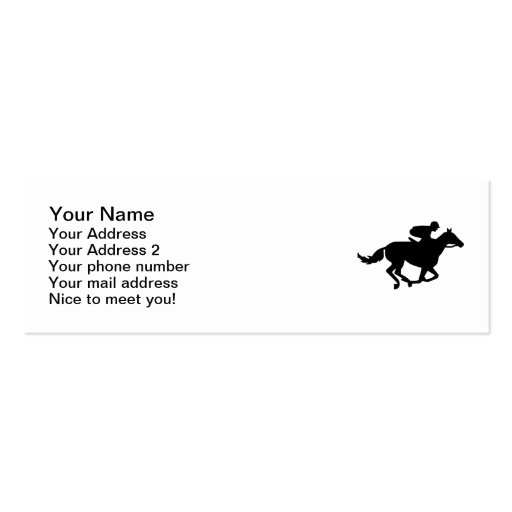 El competir con de la carrera de caballos plantilla de tarjeta de visita