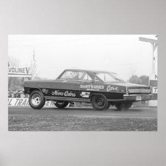 El competir con de la fricción del vintage - Chevy Póster