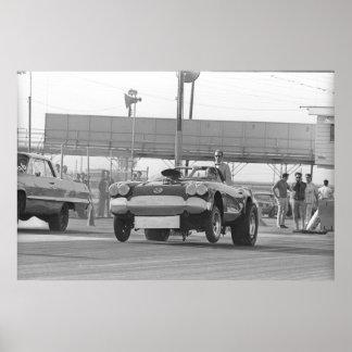 El competir con de la fricción del vintage - Corve Póster