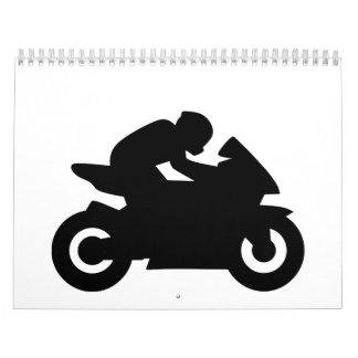 El competir con de la motocicleta calendario de pared