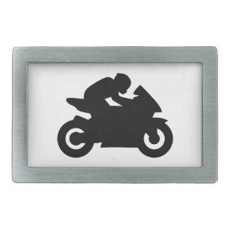El competir con de la motocicleta hebilla cinturón rectangular