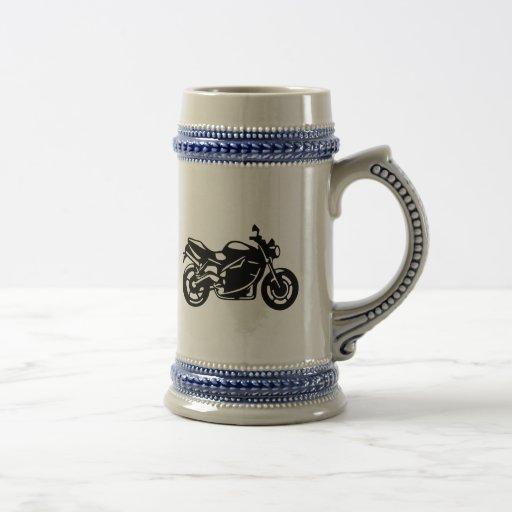 El competir con de la motocicleta jarra de cerveza