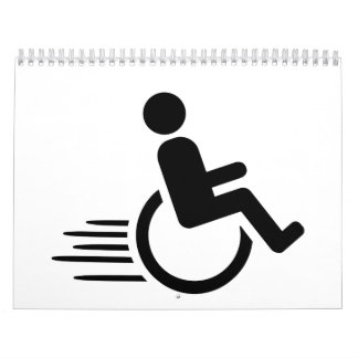 El competir con de la silla de ruedas calendario