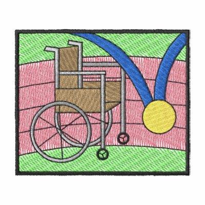 El competir con de la silla de ruedas sudadera con capucha